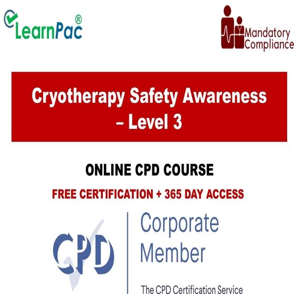 Cryotherapy Safety Awareness – Level 3 - Online Training Course - Statutory  & Mandatory Training Providers - UK Accredited