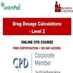 Drug Dosage Calculations - Level 2 - Mandatory Training Group UK -