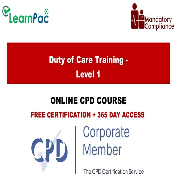 Duty of Care Training – Level 1 – Mandatory Training Group UK –