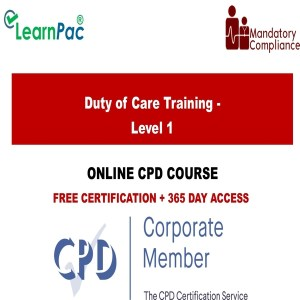 Duty of Care Training - Level 1 - Mandatory Training Group UK -