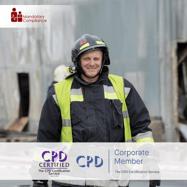 Fire Warden – Online Training Course – CPD Accredited – Mandatory Compliance UK –
