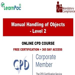 Manual Handling of Objects - Level 2 - The Mandatory Training Group UK -