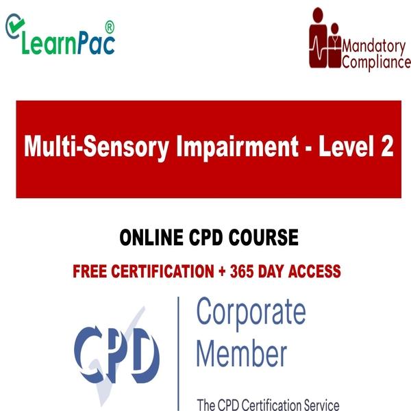 Multi-Sensory Impairment – Level 2 – The Mandatory Training Group UK –