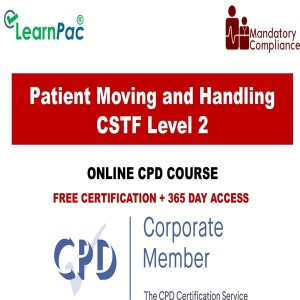 Patient Moving and Handling CSTF - Level 2 - The Mandatory Training Group UK -