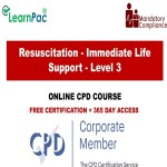 Resuscitation - Immediate Life Support - Level 3 - Online Training Course - The Mandatory Training Group UK -