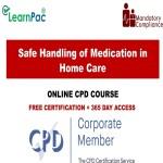 Safe Handling of Medication in Home Care - Mandatory Training Group UK -