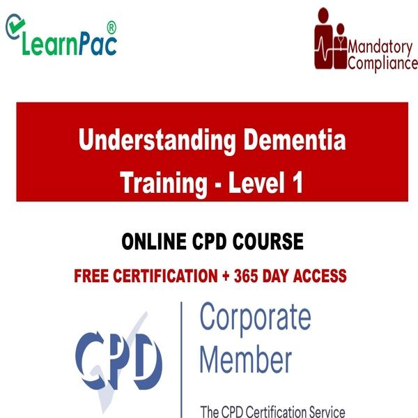 Understanding Dementia Training – Level 1 – Mandatory Training Group UK –