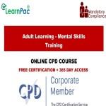 Adult Learning – Mental Skills Training – CPD Accredited – Mandatory Training Group UK –