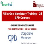 All In One Mandatory Training – 24 CPD Courses - Mandatory Training Group UK -