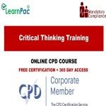 Critical Thinking Training - Mandatory Training Group UK -
