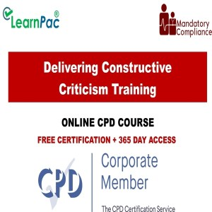 Delivering Constructive Criticism Training - Mandatory Training Group UK -