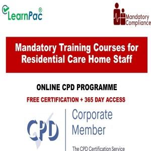 Mandatory Training Courses for Residential Care Home Staff - Mandatory Training Group UK -