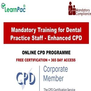 Mandatory Training for Dental Practice Staff - Enhanced CPD - Mandatory Training UK -