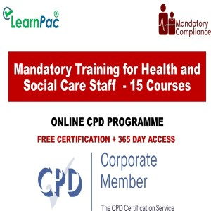 Mandatory Training for Health and Social Care Staff - 15 Online Courses - Mandatory Training Group UK
