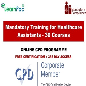 Mandatory Training for Healthcare Assistants - 30 Online Courses - Mandatory Training Group UK -