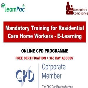 Mandatory Training for Residential Care Home Workers - E-Learning - Mandatory Training Group UK -