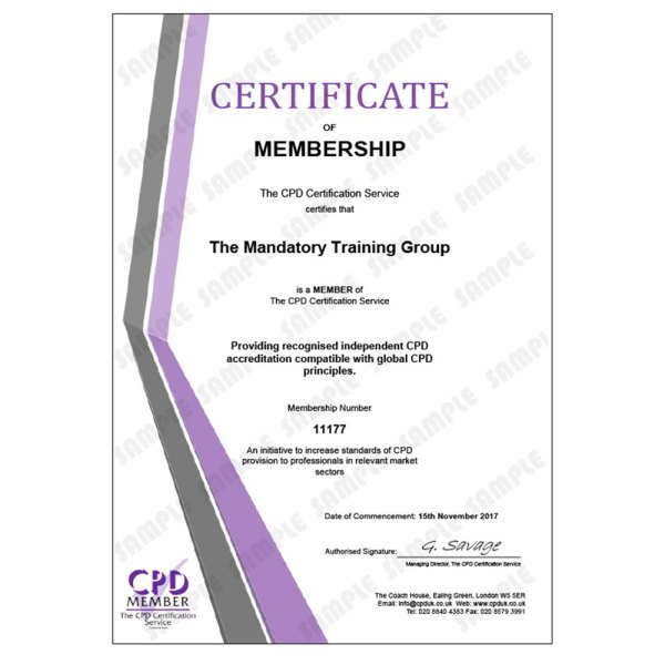 Safety in the Workplace Training – E-Learning Course – CDPUK Accredited – Mandatory Compliance UK –