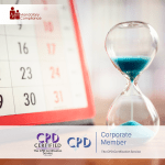 Time Management Training – Online Training Course – CPD Accredited – Mandatory Compliance UK –
