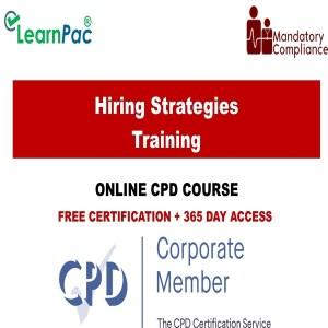Hiring Strategies Training - Mandatory Training Group UK -