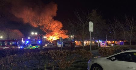 Man detained as large fire breaks out in hospital - MTG UK -