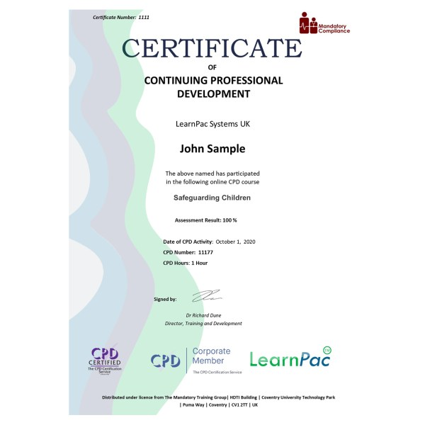 Safeguarding Children – eLearning Course – CPD Certified – Mandatory Compliance UK –