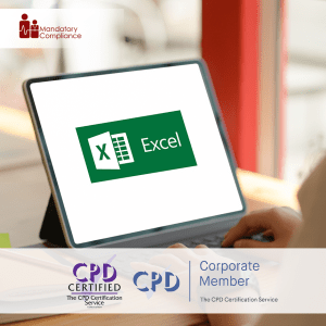 MS Excel - Data Analysis with Pivot Tables - Online Training Course - CPD Accredited - Mandatory Compliance UK -