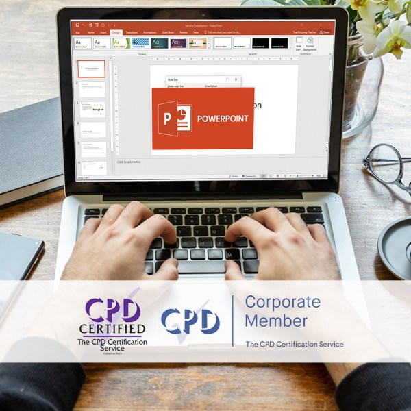 Mastering MS Powerpoint 2016 – Online Training Course – The Mandatory Training Group UK –