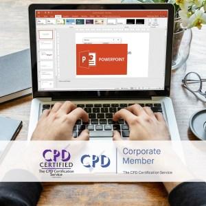 Mastering MS Powerpoint 2016 - Online Training Course - The Mandatory Training Group UK -
