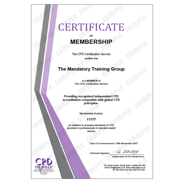 Workplace Safety Essentials – Online CPDUK Accredited Certificate – The Mandatory Training Group UK –