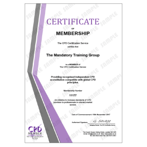 Workplace Safety Essentials - Online CPDUK Accredited Certificate - The Mandatory Training Group UK -