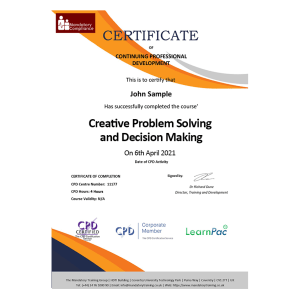 Creative Problem Solving and Decision - eLearning Course - CPD Certified - Mandatory Compliance UK -