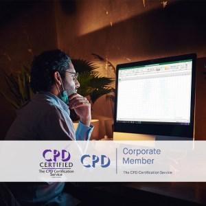 Mastering Microsoft Excel 2013 - Advanced - Online Training Course - The Mandatory Training Group UK -