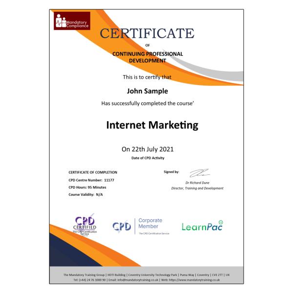 Internet Marketing – Online Training Course – The Mandatory Compliance UK –