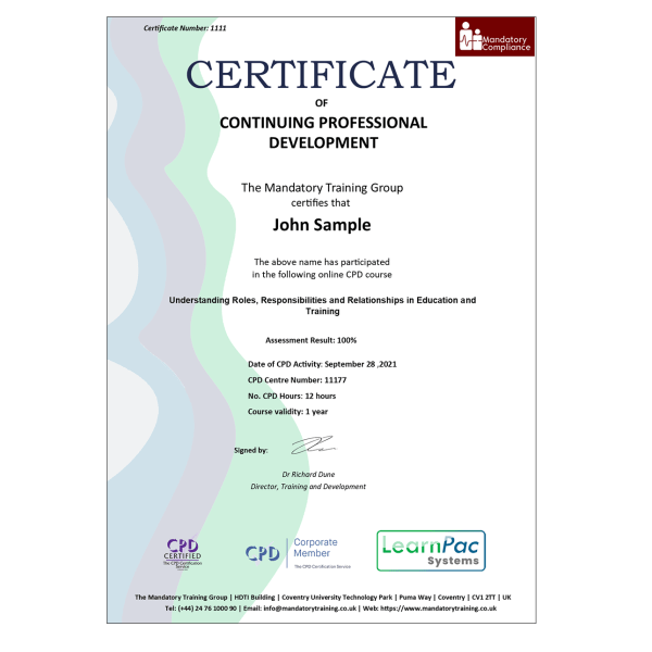 Paediatric First Aid Awareness – E-Learning – Course – CDPUK Accredited – The Mandatory Compliance UK –