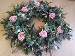 open loose wreath