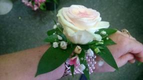 Satin Blossom Corsage
