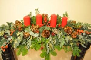 Christmas Mantelpiece Display