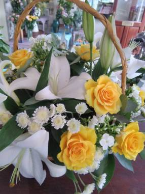 Funeral basket arrangement