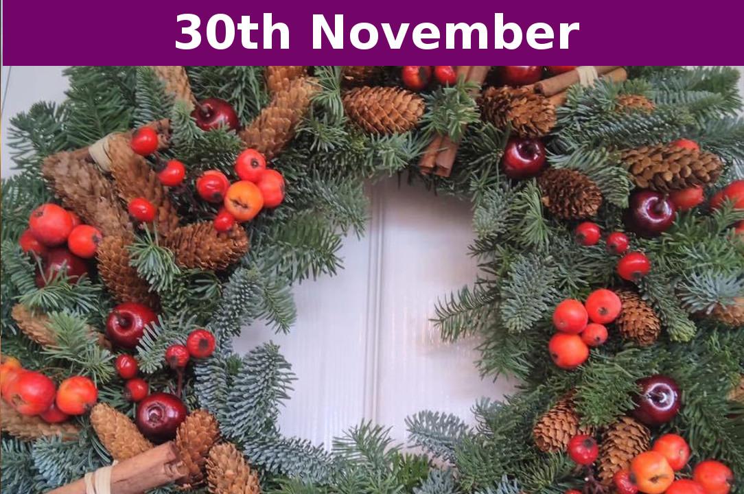 Making Christmas.4 Christmas Wreath Making Workshop