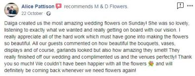 Wedding flowers review