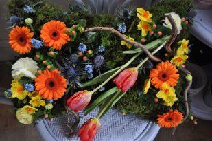 Woodland funeral cushion