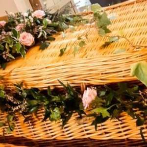 Wicker Coffin Garland