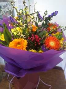 Aqua bouquets