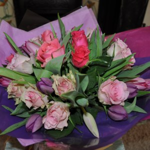 Spring love hand tied bouquet