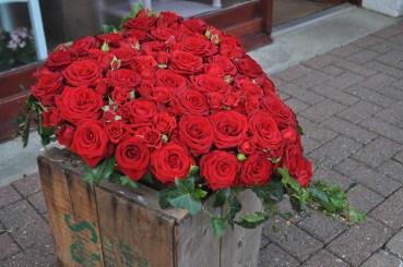 Red Rose Heart arrangement