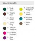 Colori fontanelle acciaio