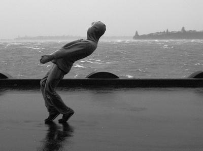 Storm Dancing on Princes Wharf, Auckland, NZ