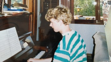 Martin playing piano age 16
