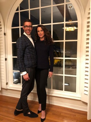 Dr. Hauschka International Make-up Artist Karim Sattar und Andie MacDowell