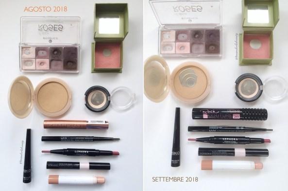 smaltimento makeup settembre
